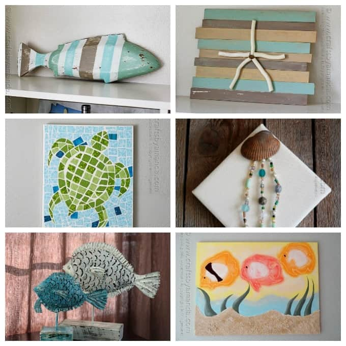 Beach craft ideas 35 beach crafts for adults and kids for Home decor arts and crafts ideas