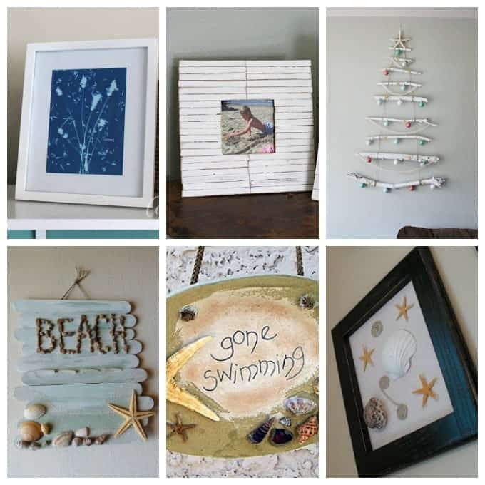 Beach craft ideas 35 beach crafts for adults and kids for Coastal wall decor ideas