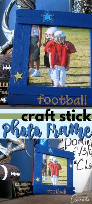 craft stick photo frame pin image
