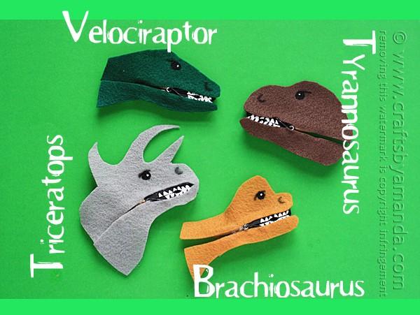 Clothespin Dinosaur