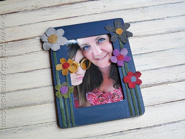 Denim Flower Frame