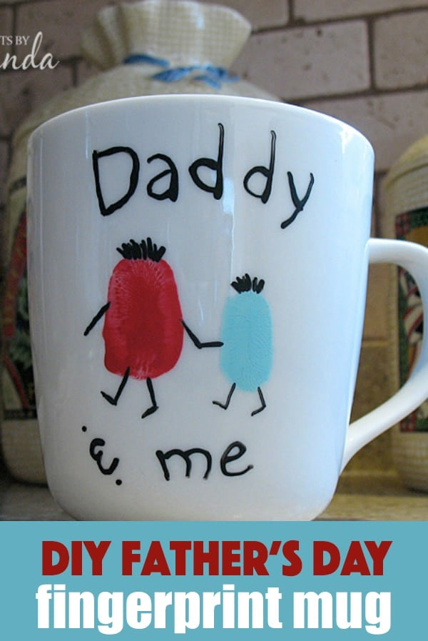 father s day mug daddy me fingerprint coffee cup