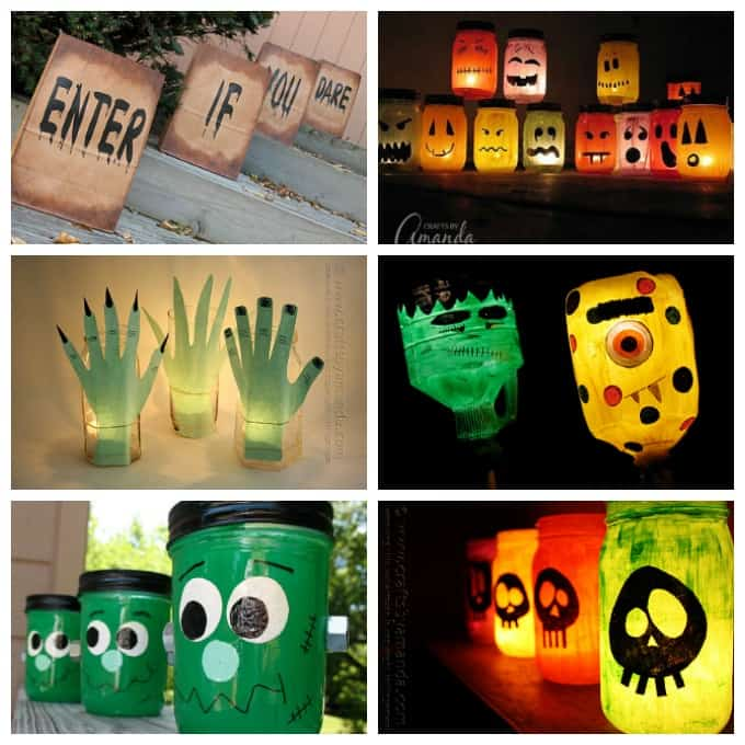 Luminary crafts collage