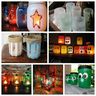 Learn to make over 20 luminary crafts using jars and other clear containers. Luminaries are great for holidays, weddings and gorgeous home decor!