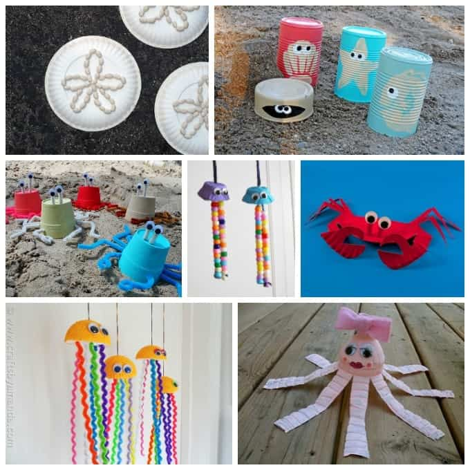kids beach crafts