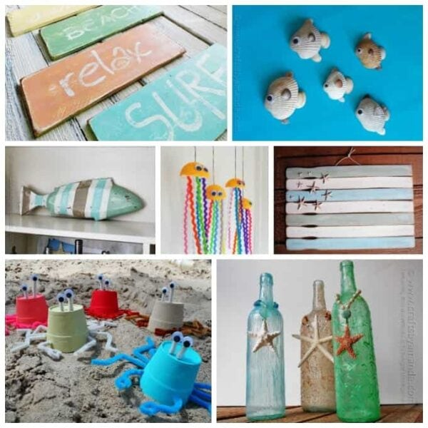 55+ Beach Craft Ideas for Adults and Kids