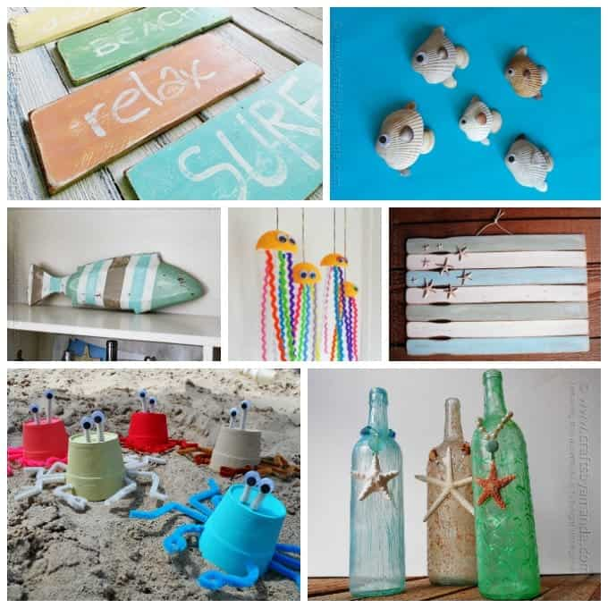 Beach craft collage