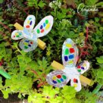Colorful Foil Clothespin Butterfly