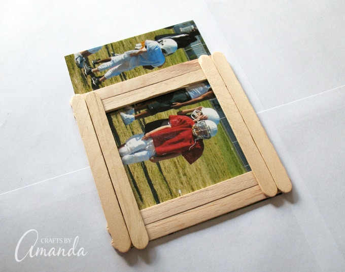Craft Stick Photo Frame: perfect for Father\'s Day, Mother\'s Day..