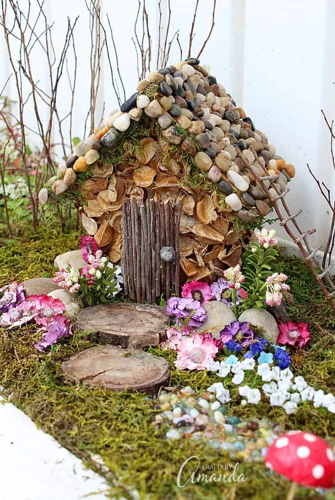 Fairy house garden year 2 of the craft studio fairy garden for Wooden studios for gardens