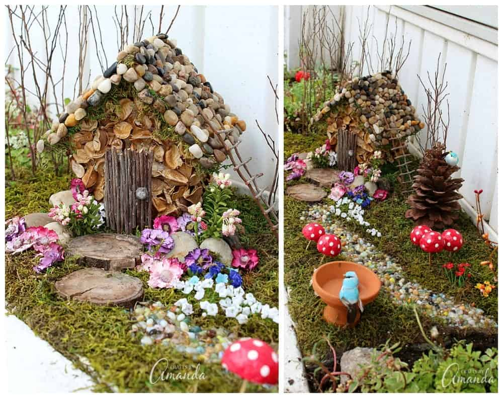 fairy house garden year 2 of the craft studio fairy garden. Black Bedroom Furniture Sets. Home Design Ideas
