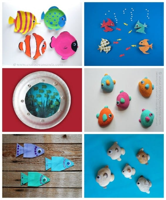 Fish themed beach crafts