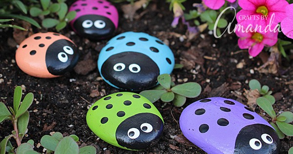 Ladybug Painted Rocks Ladybug Rocks For The Garden