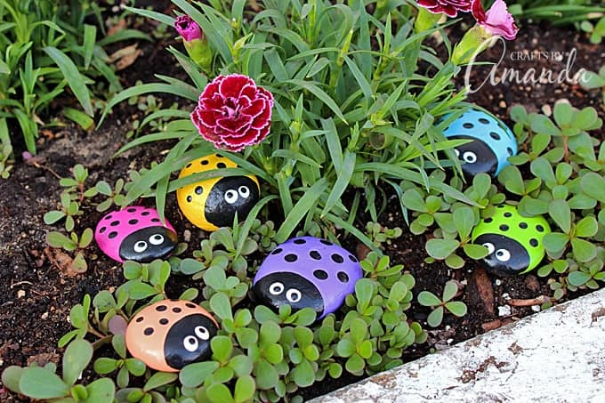 Incroyable Learn To Make These Adorable Ladybug Painted Rocks. Use Special Outdoor  Paint For This Adorable