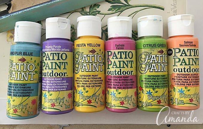 Use Patio Paint to make my ladybug painted rocks for your garden