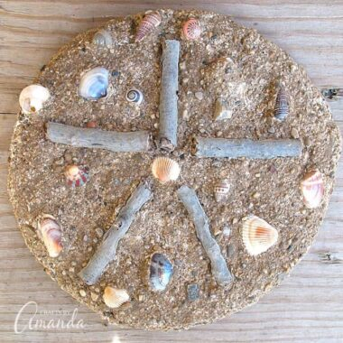Make this sand cast starfish right on the beach! You can make this sand cast with any sand, so make it at home in a tub in winter if you want.