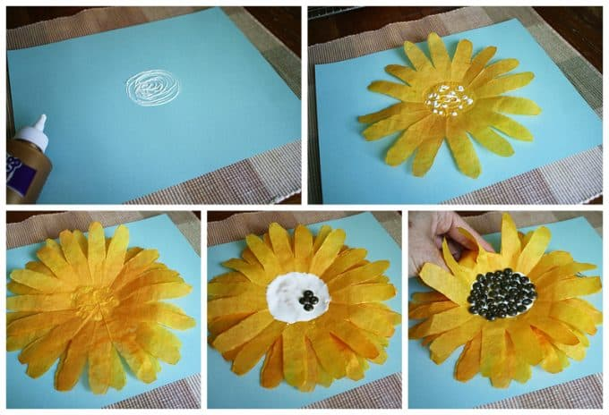 Coffee Filter Sunflowers A Fun Sunflower Craft For Kids