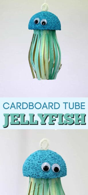cardboard tube jellyfish pin image