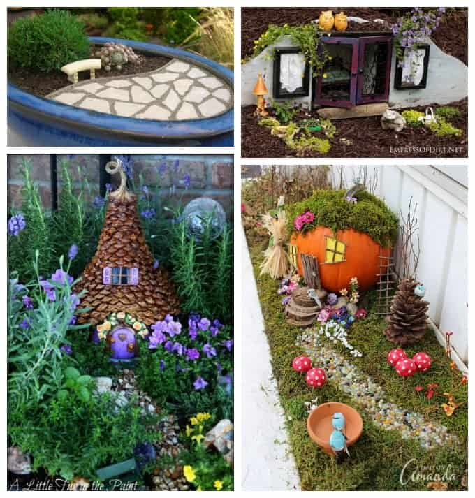 Fairy Gardens Ideas fairy garden collage Have You Been Searching For Inspiration For Your Fairy Garden There Are So Many Fairy