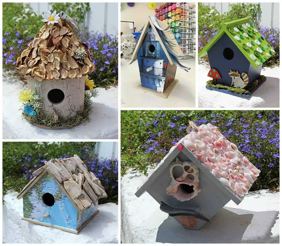 Birdhouse Crafts 5 Ways