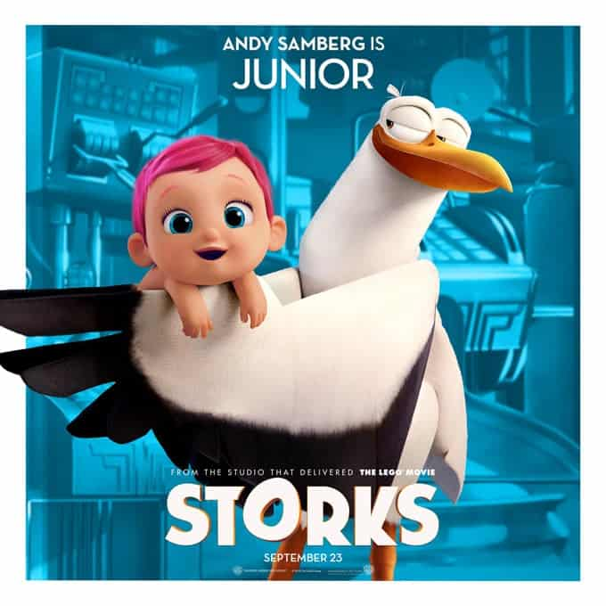 Storks deliver babies…or at least they used to. Now they deliver packages for global internet giant Cornerstore. Junior, the company's top delivery stork, is about to be promoted when he accidentally activates the Baby Making Machine, producing an adorable and wholly unauthorized baby girl. Desperate to deliver this bundle of trouble before the boss gets wise, Junior and his friend Tulip, the only human on Stork Mountain, race to make their first-ever baby drop – in a wild and revealing journey that could make more than one family whole and restore the storks' true mission in the world.