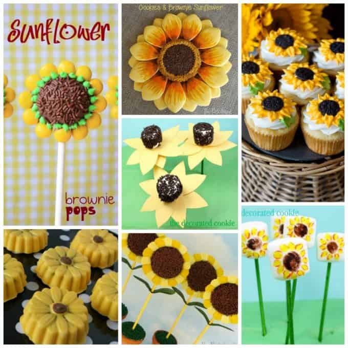 Sunflower recipes collage
