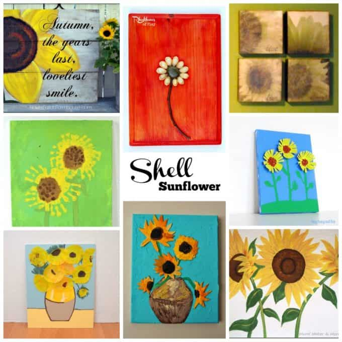 sunflower wall art ideas