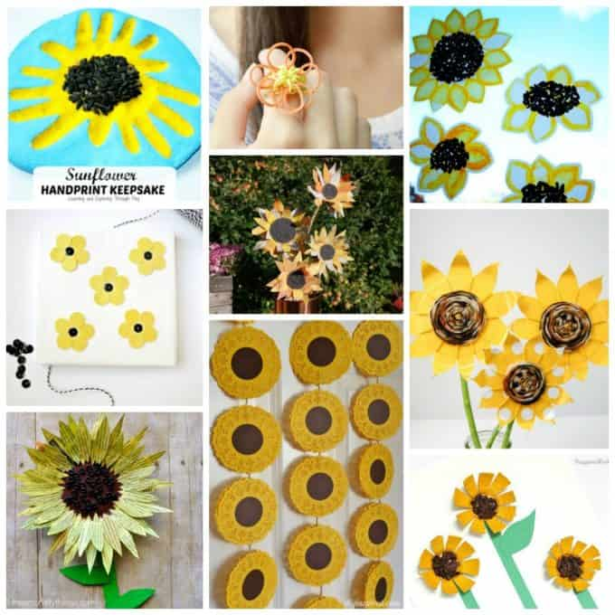 easy kids sunflower crafts