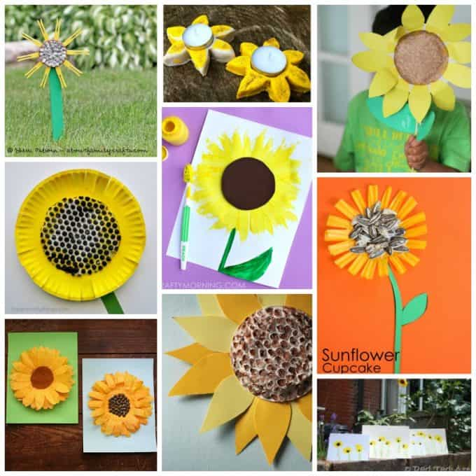 sunflower crafts collage