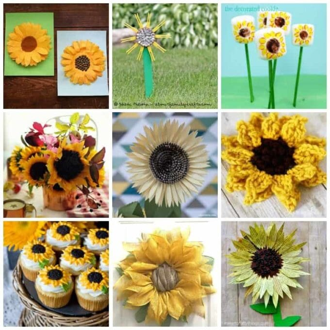 Sunflower crafts recipes 50 sunflower ideas for kids for Fall craft ideas for seniors