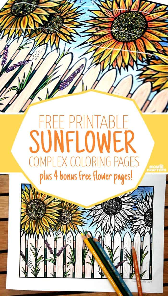 sunflower coloring pages craft - photo#30