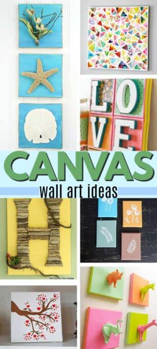 DIY canvas wall art ideas pin image