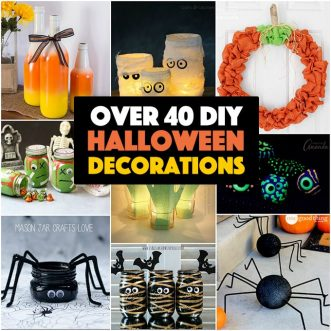 a collection of DIY Halloween decorations