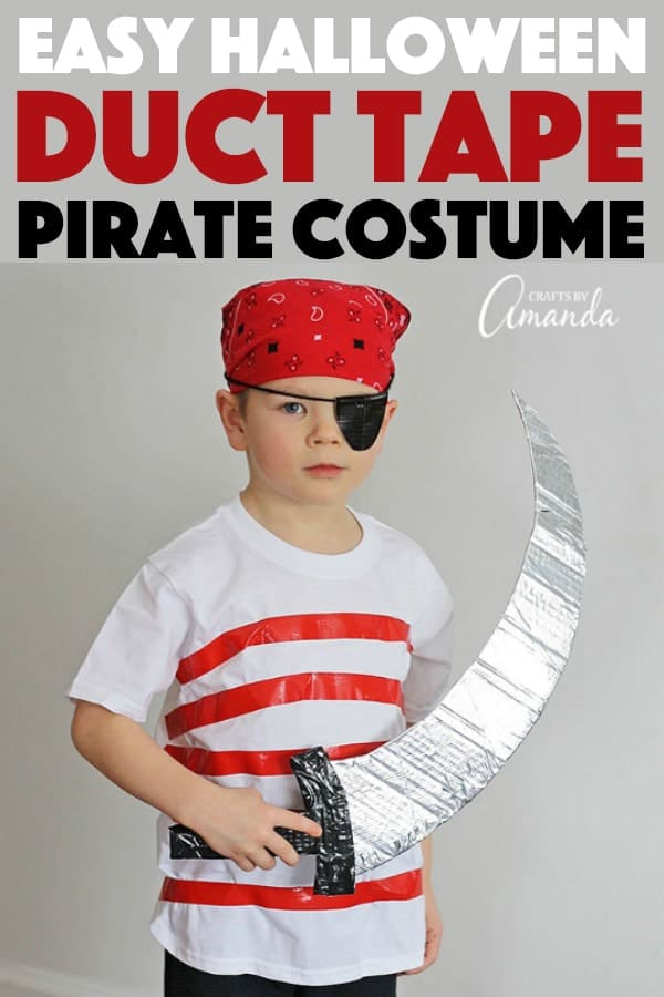 Duct tape pirate costume great for birthday parties or halloween!