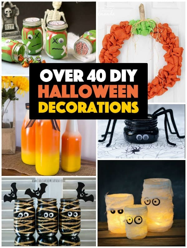 diy halloween decorations collage