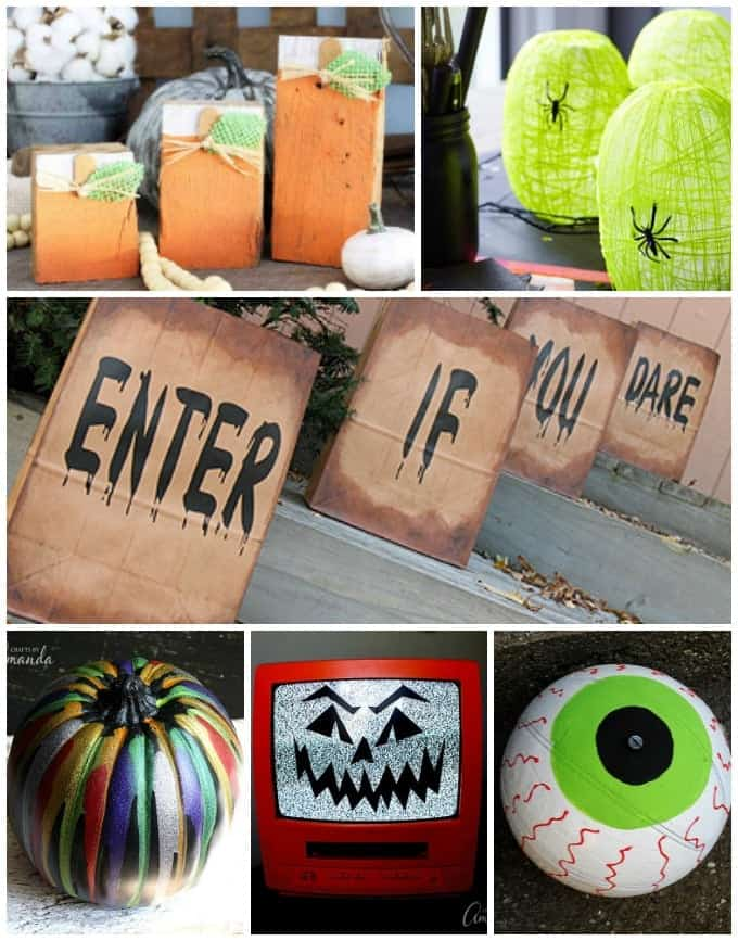 40 diy halloween decorations homemade halloween decor. Black Bedroom Furniture Sets. Home Design Ideas