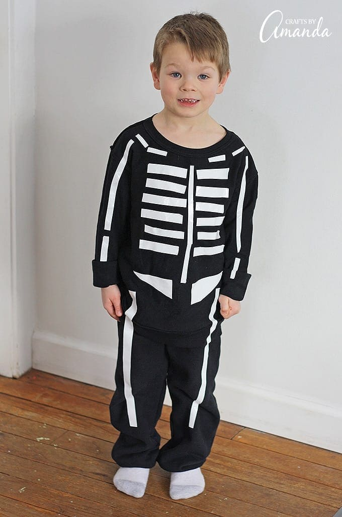 skeleton costume learn to make a skeleton costume using
