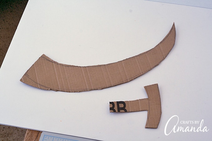 Cutting cardboard for costume