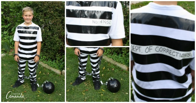 Prisoner costume using duct tape and white clothes solutioingenieria Image collections