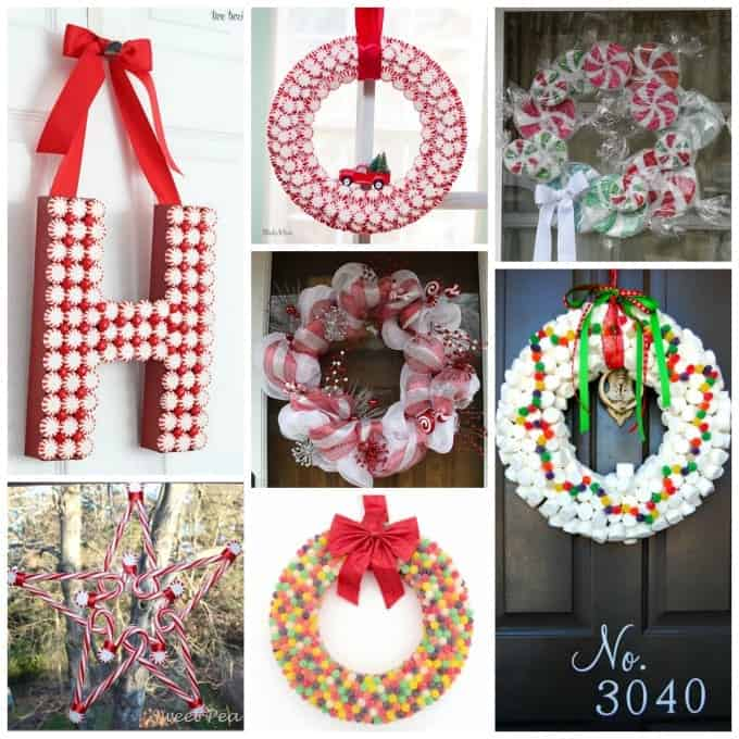 Adorable candy wreaths you can make