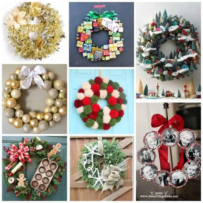 Love these whimsical DIY Christmas wreaths!