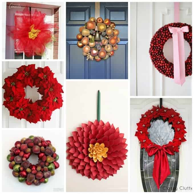 Beautiful flower and fruit themed Christmas wreaths