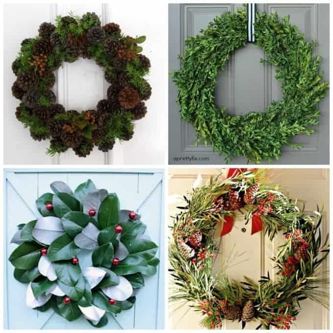 Make gorgeous wreaths for christmas using natural elements