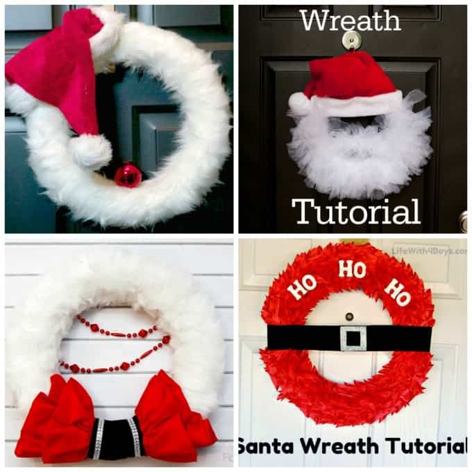 Fun Santa Christmas wreaths you can make