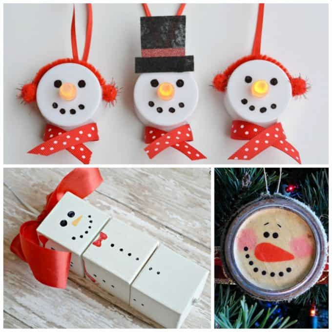 Snowman ornaments to make - so many great ideas!
