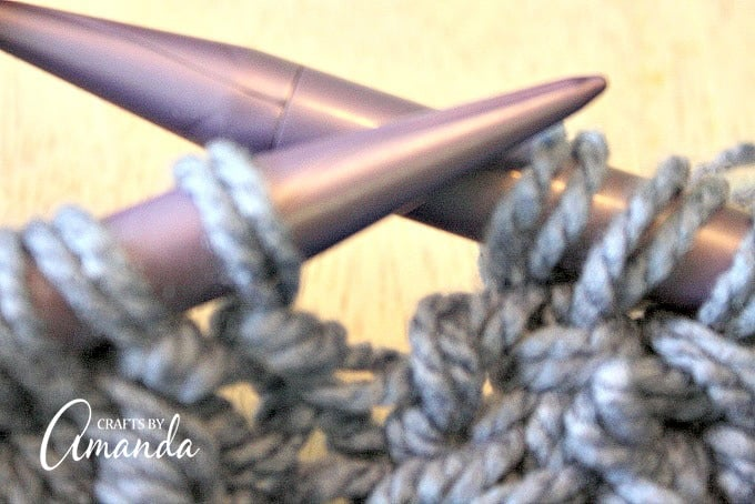 When you slip off the completed first stitch, slip off the completed second stitch at the same time (Rt)