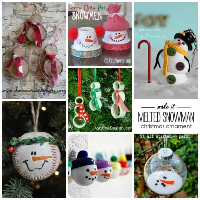 As you can see from all of the snowman ornaments listed here, you can make a snowman out of almost anything. I've personally used burnt out light bulbs (see above), Styrofoam balls, pinecones, mason jar lids, terra cotta pots, cardboard, socks, mittens and tons more.