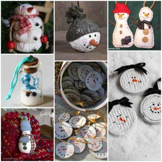 We found lots of adorable snowman Christmas ornaments to make, just scroll down to get started.