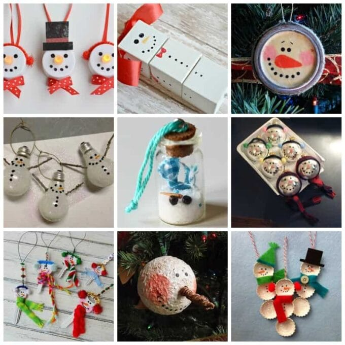 27 DIY Snowman Ornaments for Christmas snowman ornament crafts