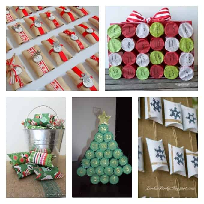 You can turn ordinary cardboard tubes into advent calendars too! Some of these advent calendar ideas use toilet paper tubes. But if that bothers you, simple substitute paper towel tubes instead!